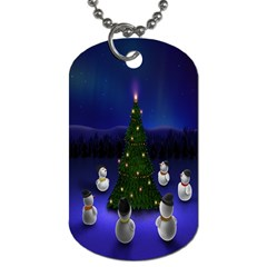 Waiting For The Xmas Christmas Dog Tag (One Side)