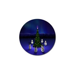 Waiting For The Xmas Christmas Golf Ball Marker (4 Pack)