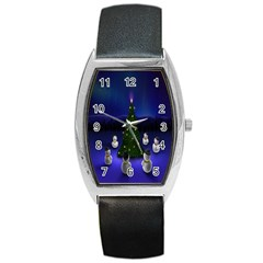 Waiting For The Xmas Christmas Barrel Style Metal Watch