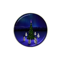 Waiting For The Xmas Christmas Hat Clip Ball Marker (10 Pack)