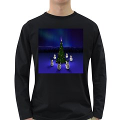 Waiting For The Xmas Christmas Long Sleeve Dark T-Shirts