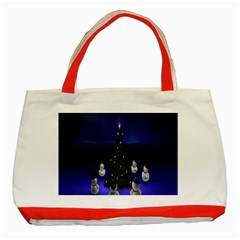Waiting For The Xmas Christmas Classic Tote Bag (Red)