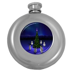 Waiting For The Xmas Christmas Round Hip Flask (5 Oz)