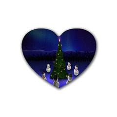 Waiting For The Xmas Christmas Heart Coaster (4 pack)