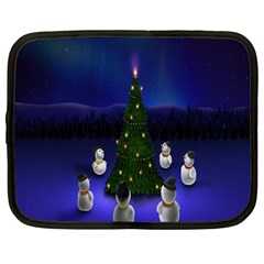 Waiting For The Xmas Christmas Netbook Case (large)