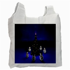 Waiting For The Xmas Christmas Recycle Bag (Two Side)