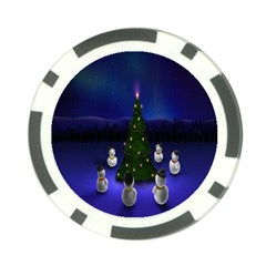 Waiting For The Xmas Christmas Poker Chip Card Guard (10 pack)