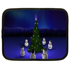 Waiting For The Xmas Christmas Netbook Case (XXL)