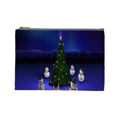 Waiting For The Xmas Christmas Cosmetic Bag (Large)