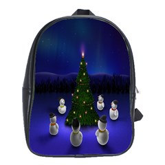 Waiting For The Xmas Christmas School Bags(large)
