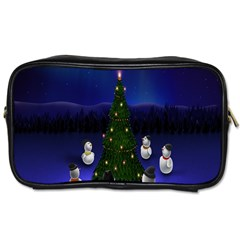 Waiting For The Xmas Christmas Toiletries Bags 2 Side
