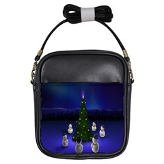 Waiting For The Xmas Christmas Girls Sling Bags