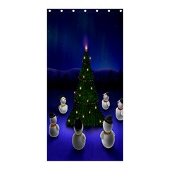 Waiting For The Xmas Christmas Shower Curtain 36  X 72  (stall)