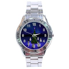 Waiting For The Xmas Christmas Stainless Steel Analogue Watch