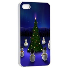 Waiting For The Xmas Christmas Apple Iphone 4/4s Seamless Case (white)