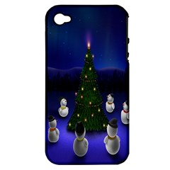 Waiting For The Xmas Christmas Apple Iphone 4/4s Hardshell Case (pc+silicone)