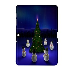 Waiting For The Xmas Christmas Samsung Galaxy Tab 2 (10 1 ) P5100 Hardshell Case