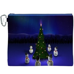 Waiting For The Xmas Christmas Canvas Cosmetic Bag (XXXL)