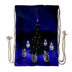 Waiting For The Xmas Christmas Drawstring Bag (large)