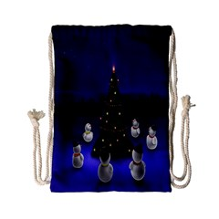 Waiting For The Xmas Christmas Drawstring Bag (small)