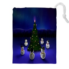 Waiting For The Xmas Christmas Drawstring Pouches (XXL)