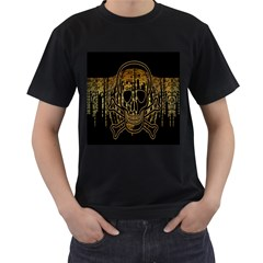 Virus Computer Encryption Trojan Men s T-Shirt (Black) (Two Sided)