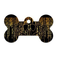 Virus Computer Encryption Trojan Dog Tag Bone (one Side)