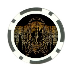 Virus Computer Encryption Trojan Poker Chip Card Guard (10 Pack)