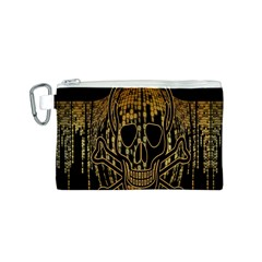 Virus Computer Encryption Trojan Canvas Cosmetic Bag (S)