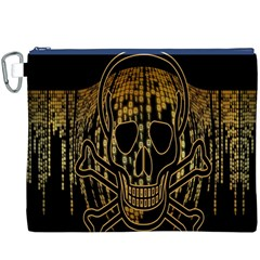 Virus Computer Encryption Trojan Canvas Cosmetic Bag (XXXL)