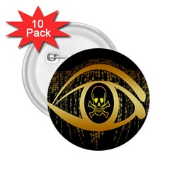 Virus Computer Encryption Trojan 2.25  Buttons (10 pack)