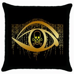 Virus Computer Encryption Trojan Throw Pillow Case (black)