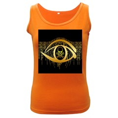 Virus Computer Encryption Trojan Women s Dark Tank Top