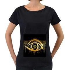 Virus Computer Encryption Trojan Women s Loose-Fit T-Shirt (Black)