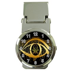 Virus Computer Encryption Trojan Money Clip Watches