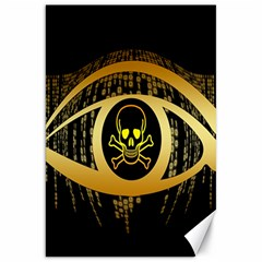 Virus Computer Encryption Trojan Canvas 20  x 30