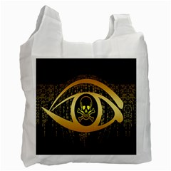 Virus Computer Encryption Trojan Recycle Bag (One Side)