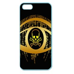 Virus Computer Encryption Trojan Apple Seamless iPhone 5 Case (Color)