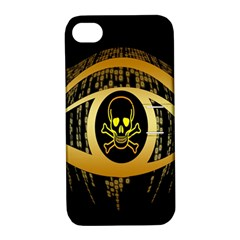 Virus Computer Encryption Trojan Apple Iphone 4/4s Hardshell Case With Stand