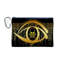 Virus Computer Encryption Trojan Canvas Cosmetic Bag (m)