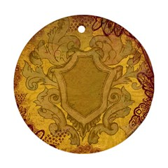 Vintage Scrapbook Old Ancient Ornament (round)