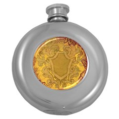 Vintage Scrapbook Old Ancient Round Hip Flask (5 oz)