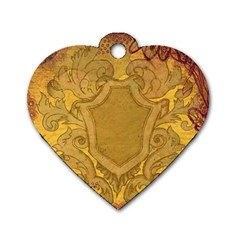 Vintage Scrapbook Old Ancient Dog Tag Heart (two Sides)