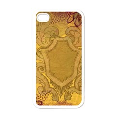 Vintage Scrapbook Old Ancient Apple iPhone 4 Case (White)
