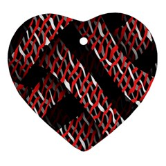 Weave And Knit Pattern Seamless Ornament (heart)