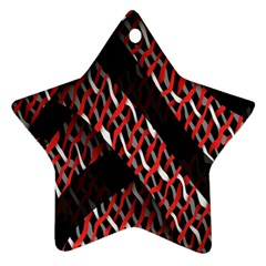 Weave And Knit Pattern Seamless Ornament (star)