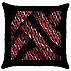 Weave And Knit Pattern Seamless Throw Pillow Case (Black)