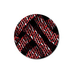 Weave And Knit Pattern Seamless Rubber Coaster (Round)