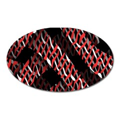 Weave And Knit Pattern Seamless Oval Magnet