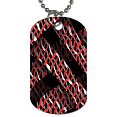 Weave And Knit Pattern Seamless Dog Tag (One Side)